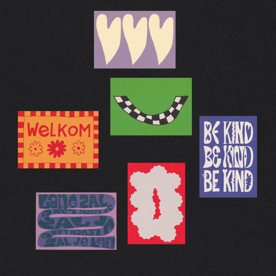 Postcard Surprise Package of 6 Glitterstudio Uit Het Gareel